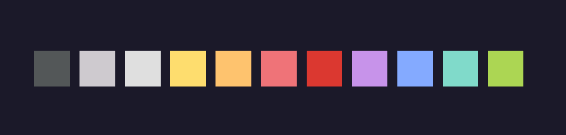 Lupin palette